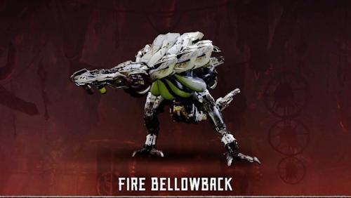 Fire Bellowback Horizon Zero Dawn Gamea